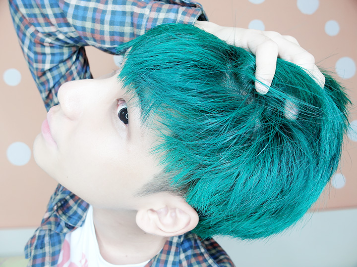 typicalben green hair
