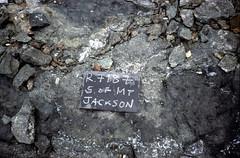 S of Mt Jackson brecciated mafic dyke in gabbro breccia
