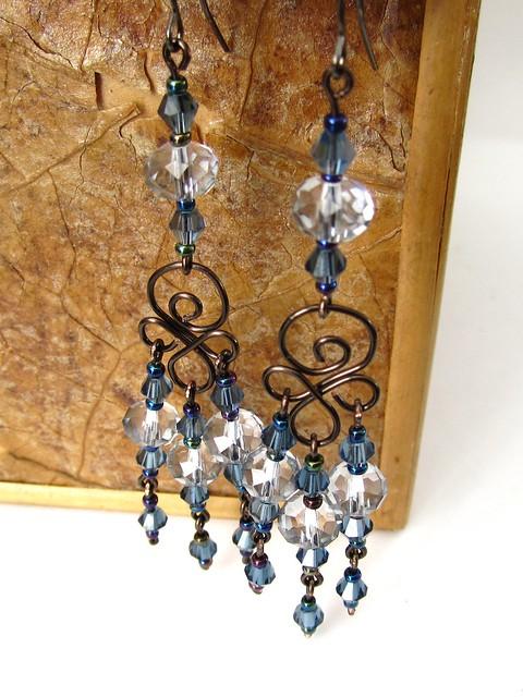 Chandelier Earrings | Silver Earrings - Cubic Zirconia Jewelry
