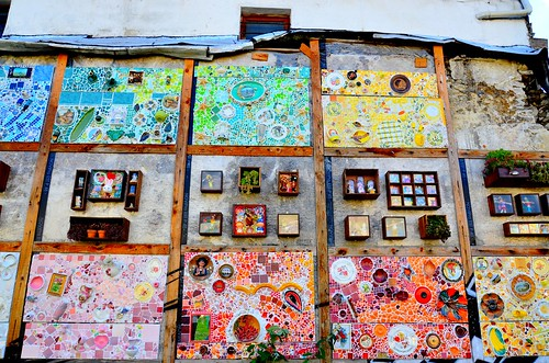 Art déco mural Kursaal sur mur vieux batiment