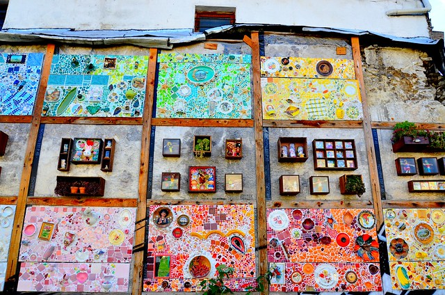 Art Déco Mural Kursaal Sur Mur Vieux Batiment Art Déco Mur Flickr
