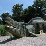 Monster? Gator? No... it just a Mosasaur