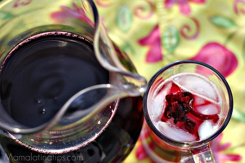 jamaica pitcher hibiscus flower drink
