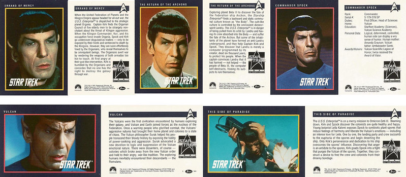 25th Anniversary Star Trek Tradingcards