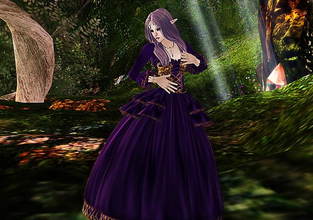 Petite in Elizabeth gown