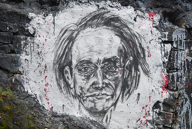 Antonin Artaud, painted portrait DDC_2833