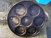 Rusty pancake iron