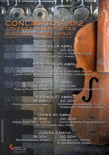 JÓVENES INTÉRPRETES 2012 - CONSERVATORIO DE LEÓN by juanluisgx