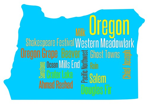 Oregon word cloud