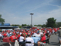 The tailgate crowd