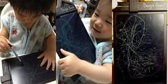 とら画伯によるブギーボード作品 (2012/5/10)