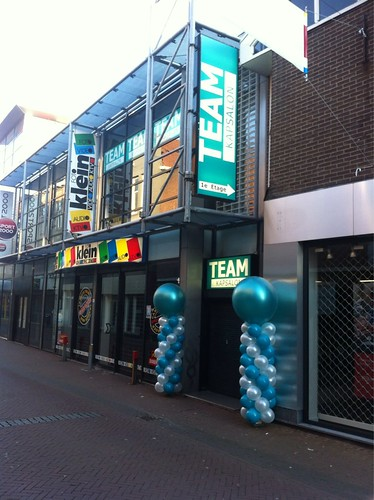 Ballonpilaar Breed Rond Team Kapsalon Schiedam