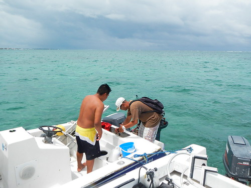 Helping another boater with engine problems at sea