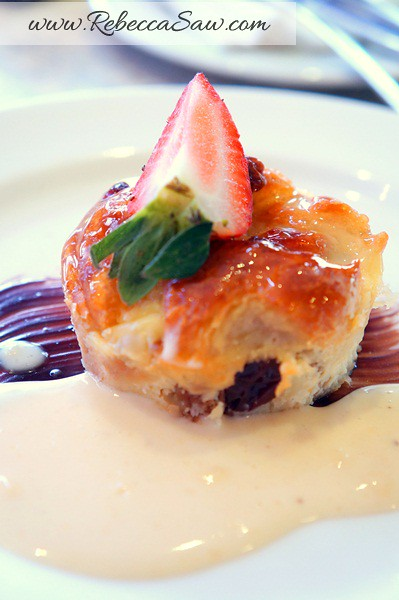 armada hotel buffet - bread and butter pudding