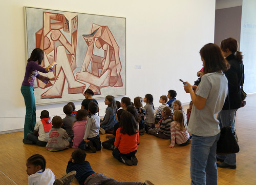 Paris-Students at the Georges Pompidou Center, 5-4-2012