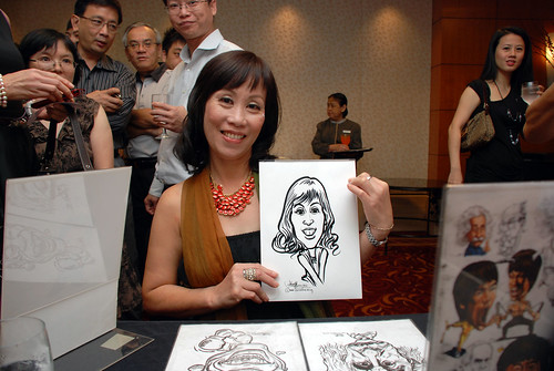 Caricature live sketching for The Bank of East Asia Staff Annual D&D - 5