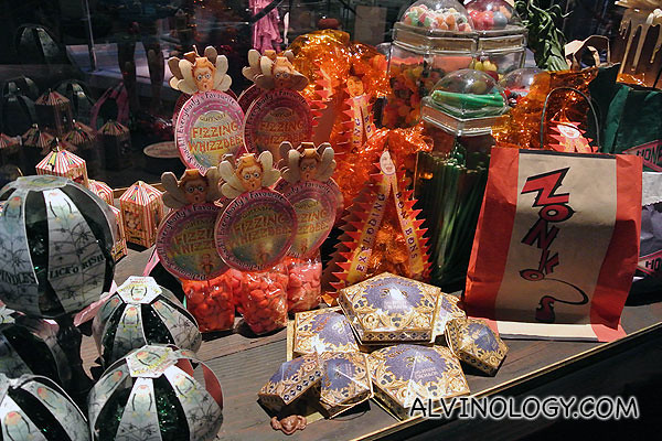 Candies and snacks from the movie sets