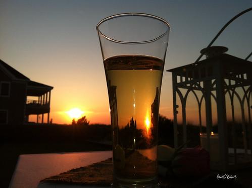 sunset beer weddingreception iphone