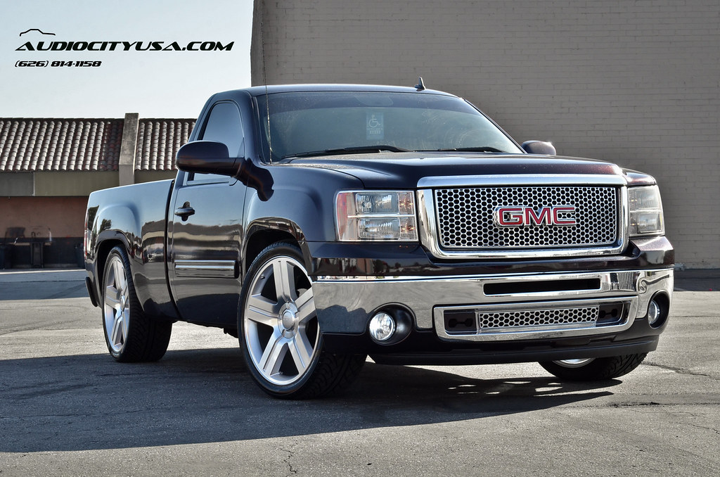 24 texas edition wheels on 2009 gmc sierra single cab. Black Bedroom Furniture Sets. Home Design Ideas