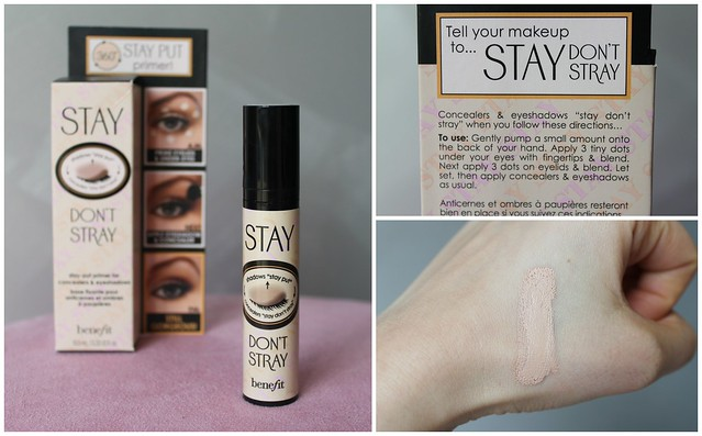 Stay Don't stray primer concealer benefit australian beauty review ausbeautyreview blog blogger aussie honest light long lasting eyes eyeshadow multi purpose swatch