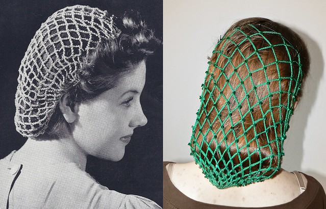 Crochet Hair On Net : Crochet hair net in the style of 40s. Flickr - Photo Sharing!