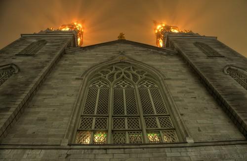 ontario canada ottawa hdr d90 photomatix cathedralbasilicadunotredame