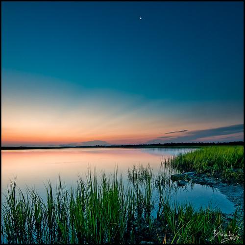 moon color water sunrise nikon kiawah tokina carolina environment nik marsh 2011 vertorama d300s atxpro116dx