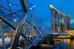 The Helix Bridge at Marina Bay Sands