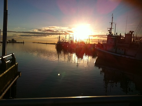 Sunset in Steveston with my best friend: my mother