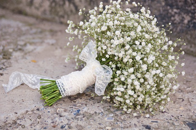 bridal bouquet ( buchet mireasa ) baby's breath