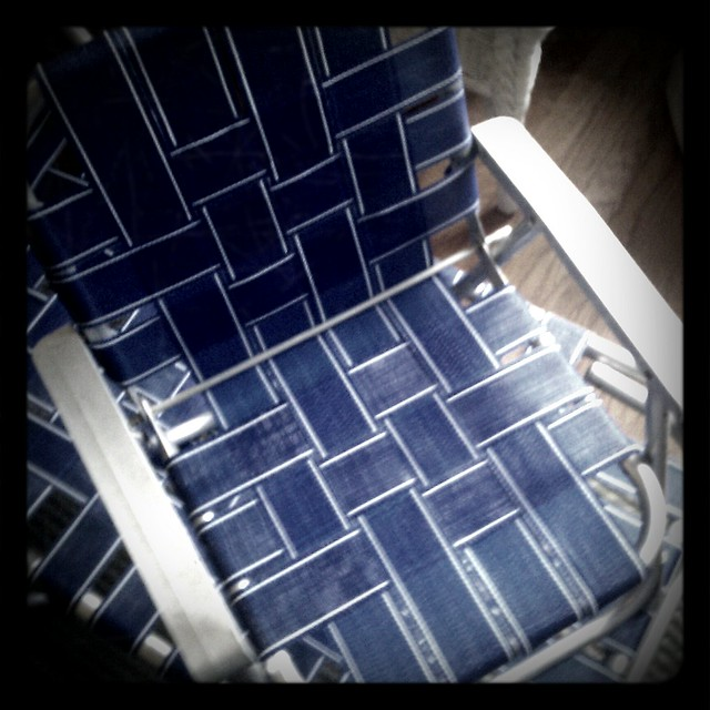 Re Webbing Vintage Aluminum Lawn Chairs Nest Vintage