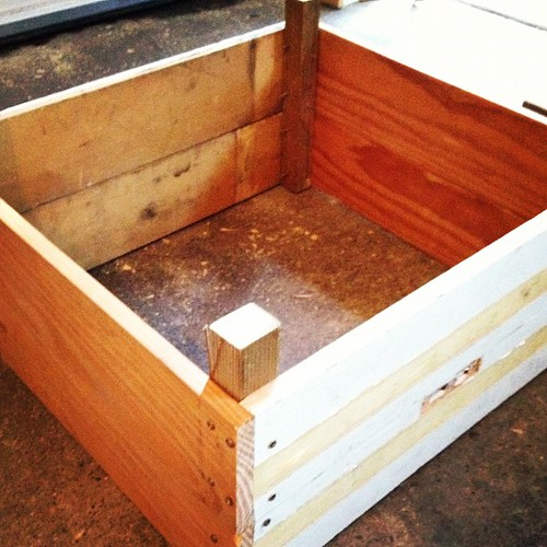What I'm doing right now: making raised garden beds. Here's to growing more food, DIYs, and boyfriends who are handy with tools!  Thanks for tagging me @anniehay!