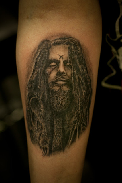 Rob zombie crofty tattoo flickr photo sharing for Zombie tattoo machine