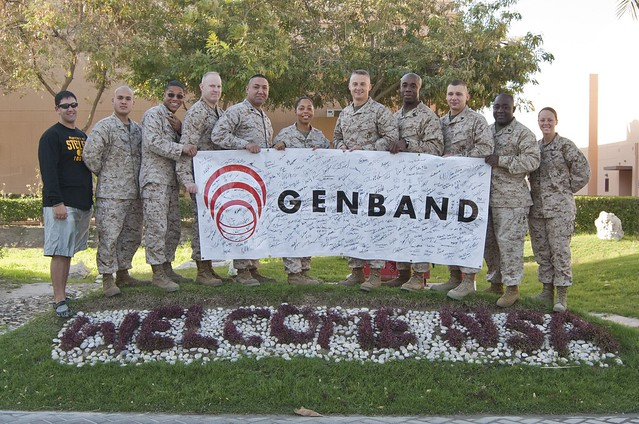 Troops at the 2012 GENBAND Sales Conference