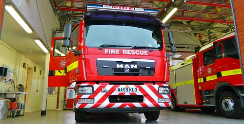 Devon & Somerset Fire & Rescue Man TG-M.15.280 Wrl John Dennis 1st away Danes castle/WA59KLO