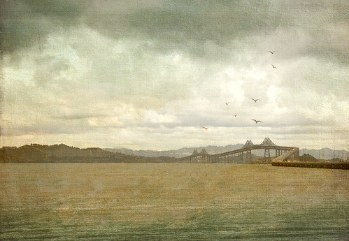 San Rafael Bridge with texture