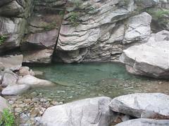 清澈的溪水。
