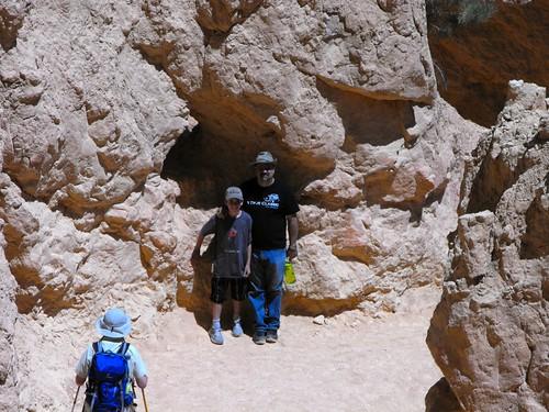 Gage & Greg hiking at Bryce