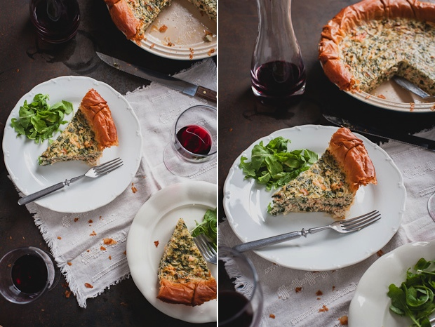 Salmon and quark quiche