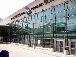 The exterior of the Ontario Science Centre