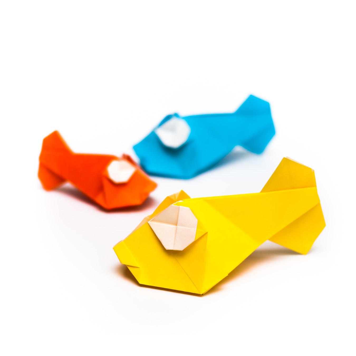 การพับกระดาษเป็นรูปปลาทอง (Origami Goldfish) 030