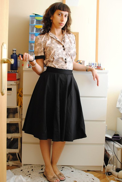 A simple black circle skirt