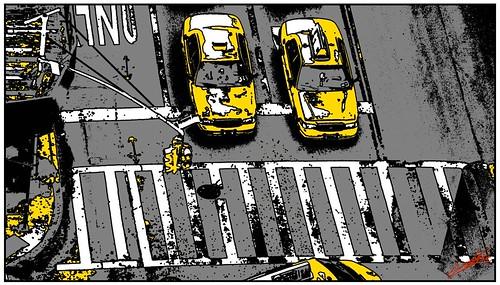 Tableau peinture New York Taxi