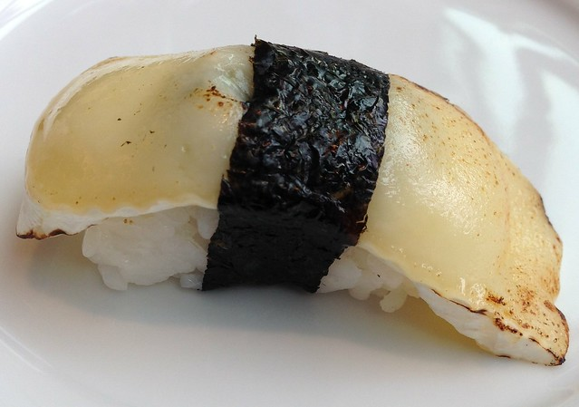 Torched Double Brie, Pickled Cucumber Nigiri - WooBar's Drop the T High Tea