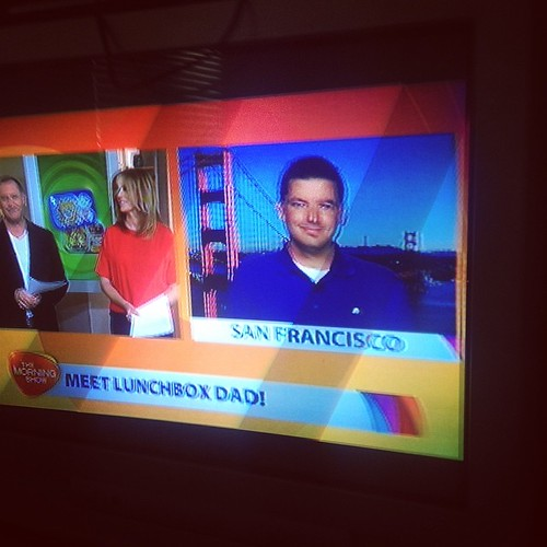 Loving @lunchboxdad on the morning show now! #tms7