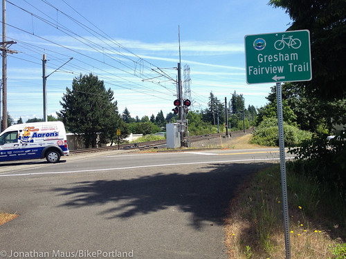 Gresham Fairview Trail gap at Birdsdale St