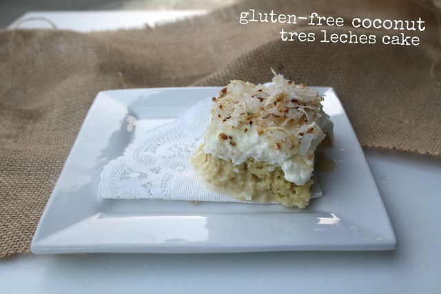 gluten free coconut tres leches cake