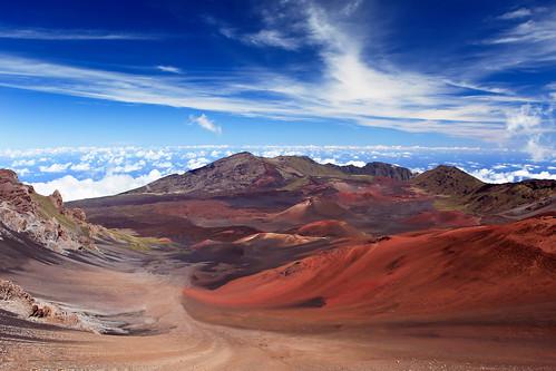 volcano hawaii landscapes unitedstates crater summit natureandlandscapes