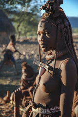 Black native girl