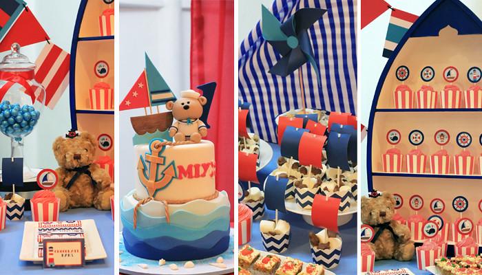 Nautical Teddy Bear Dessert Candy Buffet